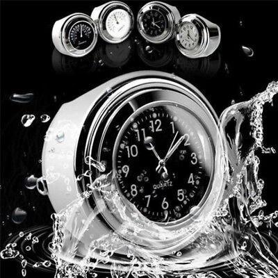 "7/8"" Motorcycle Handlebar Night Light Dial Clock &Thermometer Temp Waterproof~US"