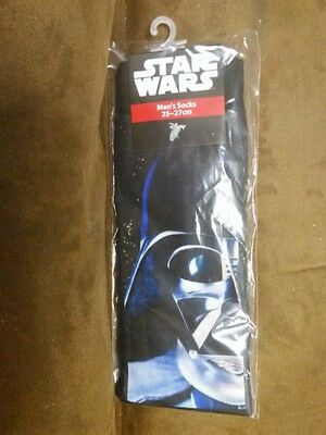 Men's Star Wars Darth Vader Pair Socks (Shoe Size 6-12)