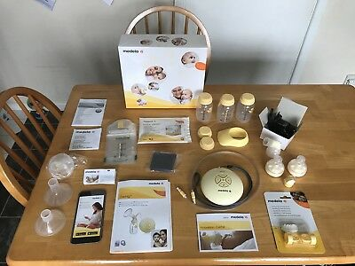 Medela swing single electric breast pump & feed set - used less than 12 times