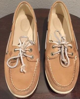 47232fafa SPERRY TOP-SIDER women s FIREFISH CORE BOAT SHOES Lace Up Leather Linen Oat  9