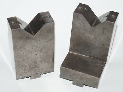 """Slotted Table Matched Pair V-Blocks, 3"""" Height x 1.97"""" Wide x 1"""""""