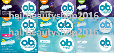 OB NEU! Tampons ProComfort Original Normal Nacht Super 16St