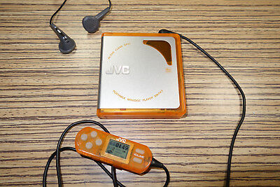 JVC XM PX3  Minidisc Player + Remote Orange (85) + Akku