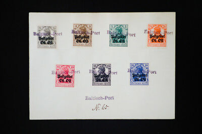 Germany Stamps Baltic Port WWI Overprints