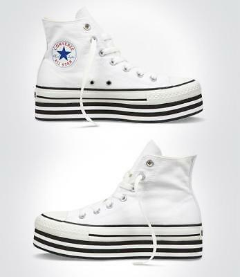 6946a18c18057d New Converse CT All Star EVA Platform Hi Womens Shoes UK 5.5 White sneakers