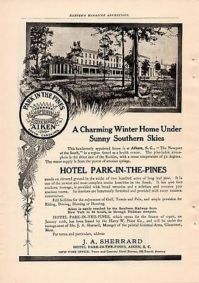1907 Hotel Park In The Pines Ad-Aiken, South Carolina