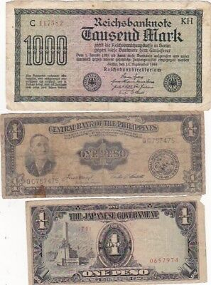 7 1922-1994  Circulated Notes From All Over