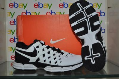 31d7304224e Nike Lunar Fingertrap TR 4E 898065 100 Mens Wide E Running Shoes  White Black NIB