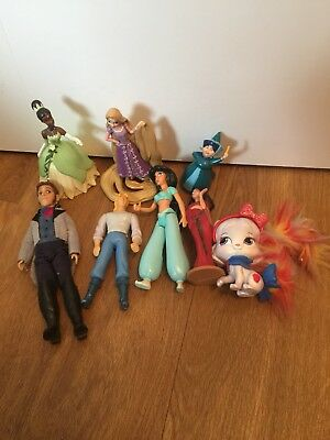 Disney Princess Jasmine Aladdin Collectable Toy Doll Cake Topper Figure Bundle