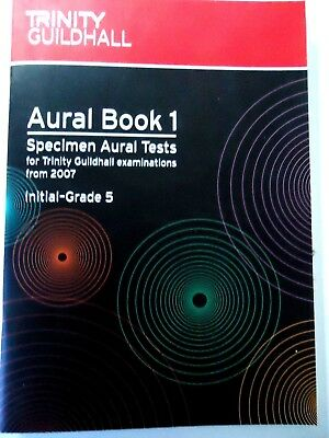 TRINITY GUILDHALL.AURAL BOOK 1 SPECIMEN AURAL TESTS INITIAL-GRADE 5.2 CDs AS NEW