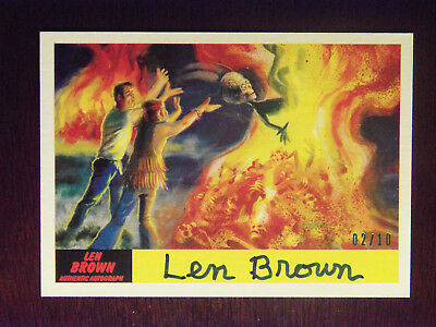 2017 Topps Mars Attacks The Revenge! Len Brown AUTOGRAPHED Card #51 #2/10 RARE