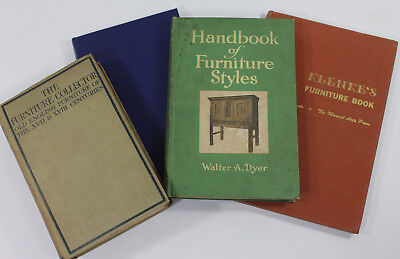 Lot of 4 Books on Vintage Antique Furniture Styles Building English Collecting