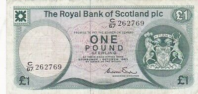 1983 Royal Bank of Scotland 1 Pound Note, Pick 341b.