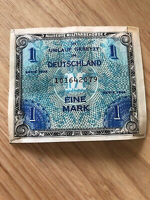 Free Shipping Germany 1 Mark 1944 Allied Military Currency No. 101642079