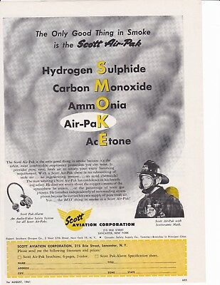 Scott Air Pak The Best Thing In Smoke  1961  Ad                     7160