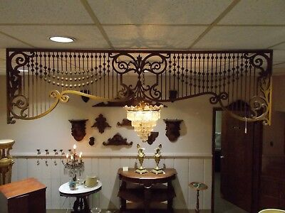 ☆ American ~ Late 1800's WALNUT STICK & BALL / Fretwork Architectural TRANSOM ☆