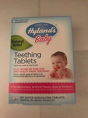 Hyland's Baby Chamomille Natural Teething Relief Medicine 135 Dissolve Tabs RARE
