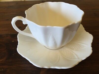 Vintage Paragon Embossed Leaf Pattern Cup and Saucer