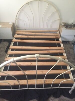 cast iron queen bed