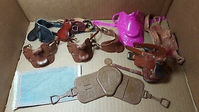 Mixed Lot Of Horse Saddles - Some Breyer & Others (E-4)