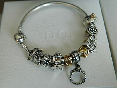 Pandora Moments Sterling Silver 14k Gold Fairytale Charm Bracelet