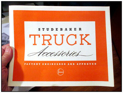 1941-48 M Series Studebaker truck 8 page accessory catalog
