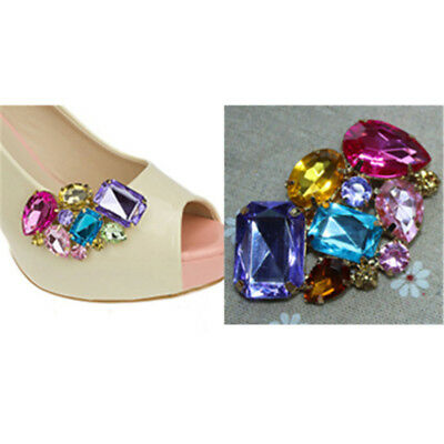 1PC Women Shoes Decoration Clips Crystal Shoes Buckle Bridal Charm Decor JDUK