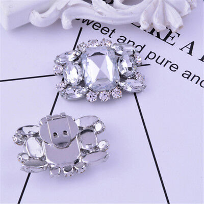 1PC Women Shoes Decoration Clips Elegant Crystal Shoes Buckle Bridal Decor JDUK