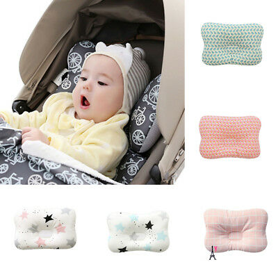 Infant Baby Newborn Pillow Memory Foam Positioner Prevent Flat Head Anti Roll AU
