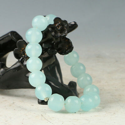 Chinese Hand-carved Natural Jade Bead Bracelet RS001