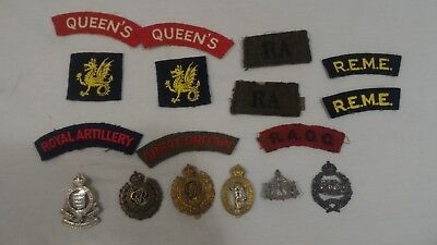 WW2 WWII British English Cap Hat Badges Patches Titles Insignia Corps
