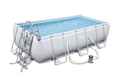 Bestway Power Steel™ Frame Pool Set Swimmingpool Schwimmbecken mit Filterpumpe