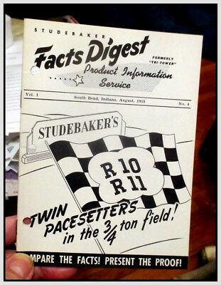1953 Studebaker truck R10 R11 Facts Digest compare w Dodge Ford GMC Chevy Intl