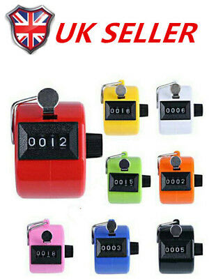 4Digit Number Manual Handheld Tally Mechanical Clicker Golf Stroke Counter Y1R