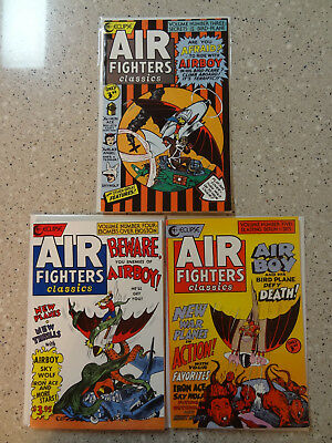Air Fighters Classics #3, #4, & #5 - 3 Comic Lot (Eclipse, 1989)