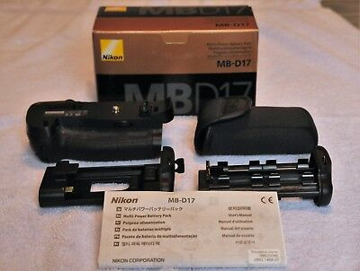 Nikon MB-D17 Multi-Power Battery Pack & Vertical Grip, Excellent Used Condition