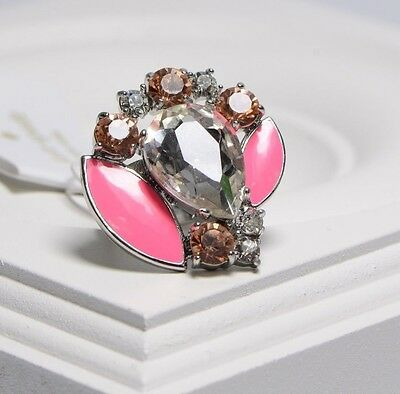 Kate Spade Frosty Floral Crystal Chunky Ring Size 6 Jewelry