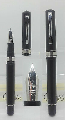 OMAS 555/F black fountain pen as shown in the picture.