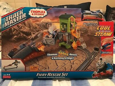 BRAND NEW FISHER-PRICE THOMAS & FRIENDS TrackMaster Fiery Rescue ...