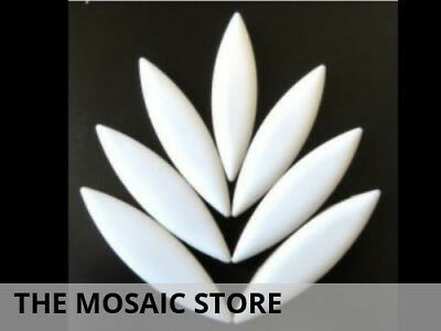 XL White Ceramic Petals - Mosaic Tiles Supplies Art Craft