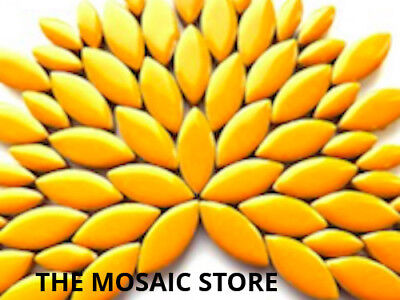 Light Orange Ceramic Petals - Mosaic Tiles Supplies Art Craft
