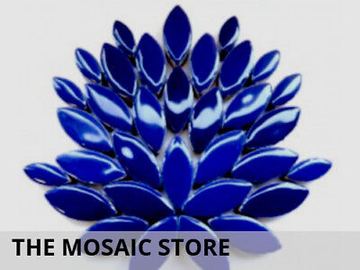 Indigo Blue Ceramic Petals - Mosaic Supplies Tiles Art Craft