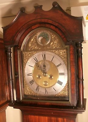 "Antique ""Charminster""  Brass Penny Moon Dial  Grandfather / Longcase Clock"