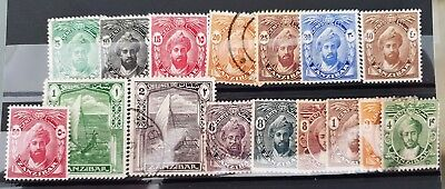 Zanzibar Early 20th Century Mint and Used Stamps Collection Lot in a Card  Lot 2