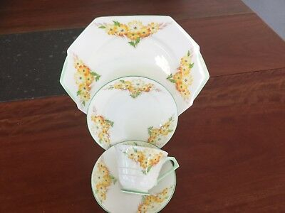 PARAGON CAKE PLATE AND TRIO PATTERN NO 2226 ART DECO English bone china