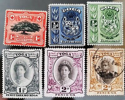 Toga Tonga Early Mint and Used Stamps Collection Lot