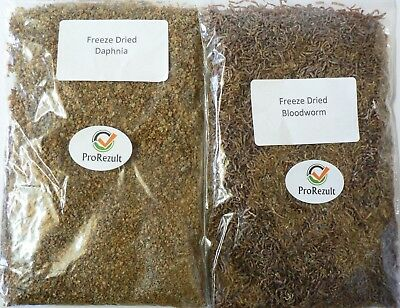 Freeze Dried Bloodworm and Daphnia Fish Food Tropical Marine Pond and Young Fry