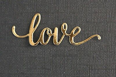9 x Red Gold Pink Love Word Die Cuts Card Making Scrapbooking Toppers