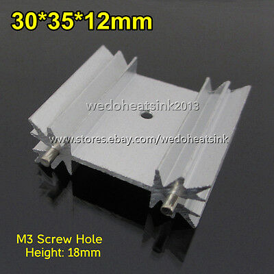 5pcs Heatsink 30x35x12mm for TO-220 MOSFET With Radial Fins