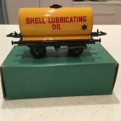 HORNBY O GAUGE No 5o Shell Lubricating Oil Wagon Boxed Excellent Condition.